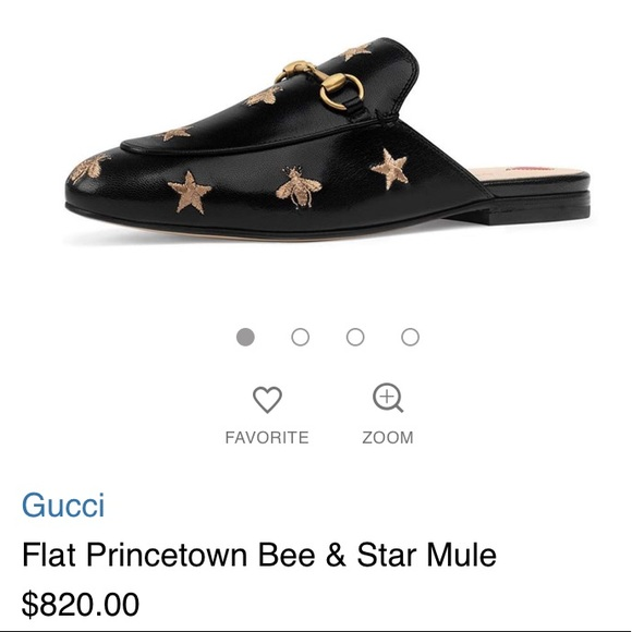 d4f976dc51a Gucci Shoes - GUCCI Flat Princetown Bee   Star Mule Size 38